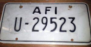 Aviano Plate 1972-77