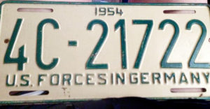 U.S. Forces in Germany Plates 1954