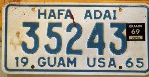 Guam Plates 1965-69