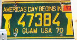 Guam Plates 1970-73
