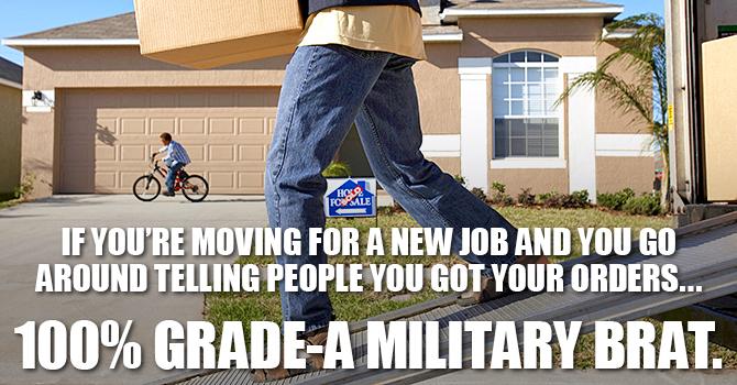 Military Brat Orders Meme